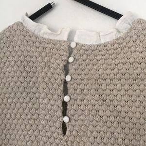 Anthropologie Dresses - Anthro | Sunday in Brooklyn Ruffle Sweater Dress